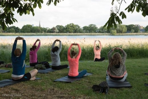 Yoga at Woodberry Wetlands